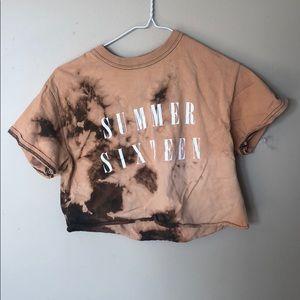 Drake concert cropped t shirt